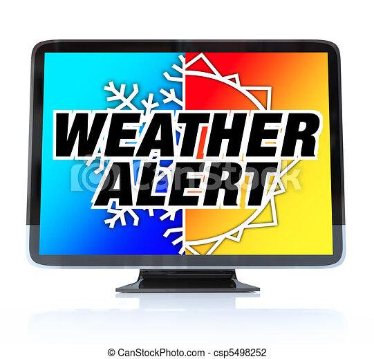 Weather Alert - High Definition Television HDTV - csp5498252