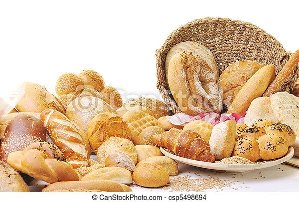 cibo, fresco, gruppo, bread - csp5498694