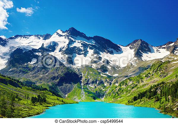 Mountain lake - csp5499544