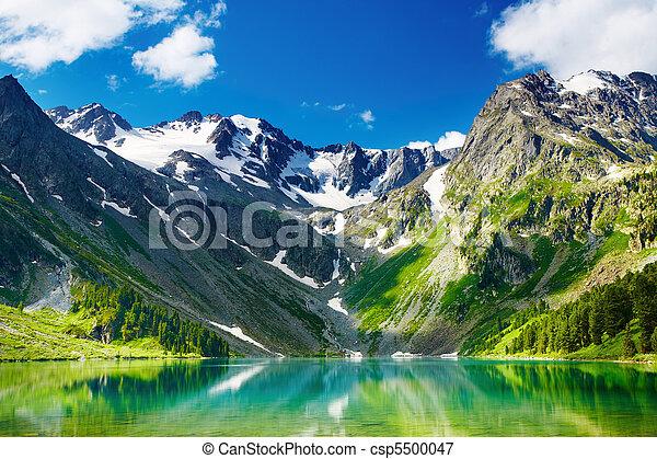 montagna, lago - csp5500047