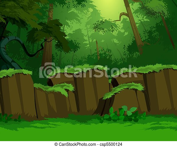 Artistic jungle background - csp5500124