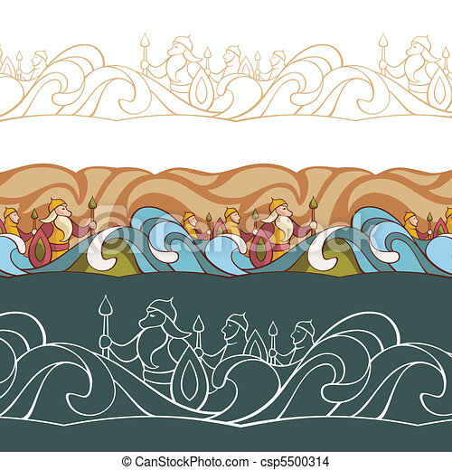 background with fairytale characters - csp5500314