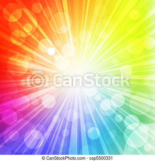 rainbow sun - csp5500331