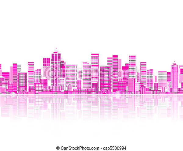 Cityscape seamless background for your design, urban art  - csp5500994