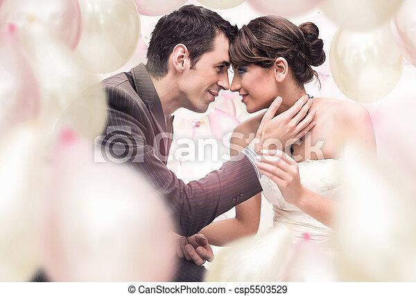bild, romantisk, bröllop - csp5503529