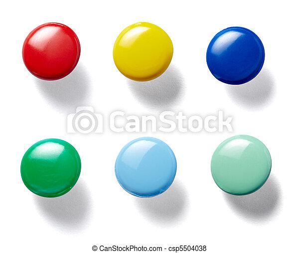 push pin thumbtack tool office business - csp5504038