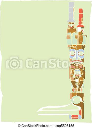 Clipart vettoriali di 3 totem totem polo in il for Piani di casa in stile artigiano nord ovest
