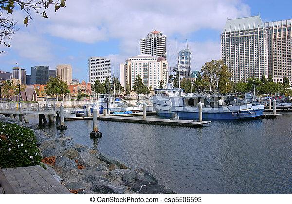 San Diego marina, California. - csp5506593