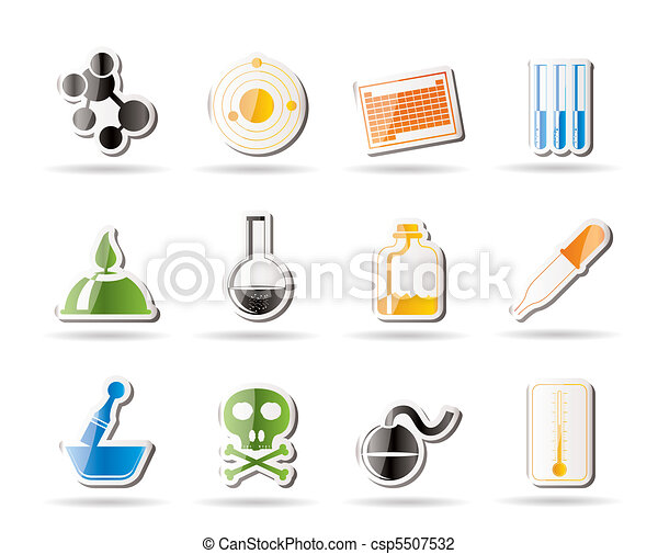 Chemistry industry icons  - csp5507532