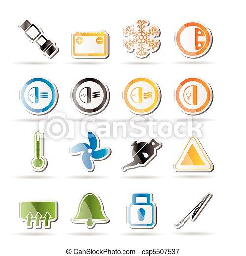 Car Dashboard icons - csp5507537