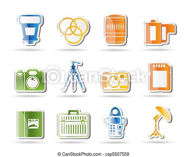 Photography equipment icons  - csp5507559