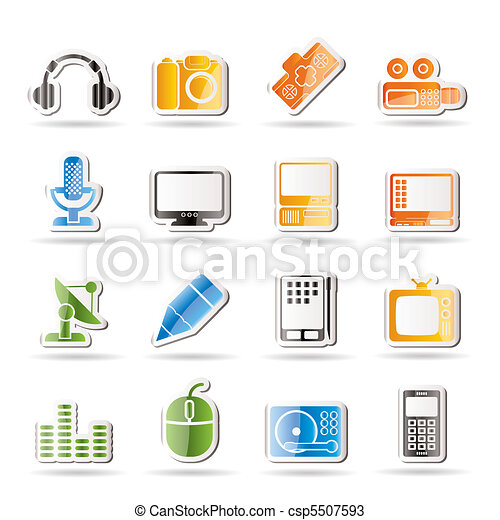 Media equipment icons - csp5507593