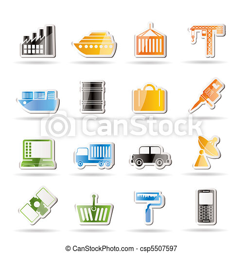 Industry and Business icons - csp5507597