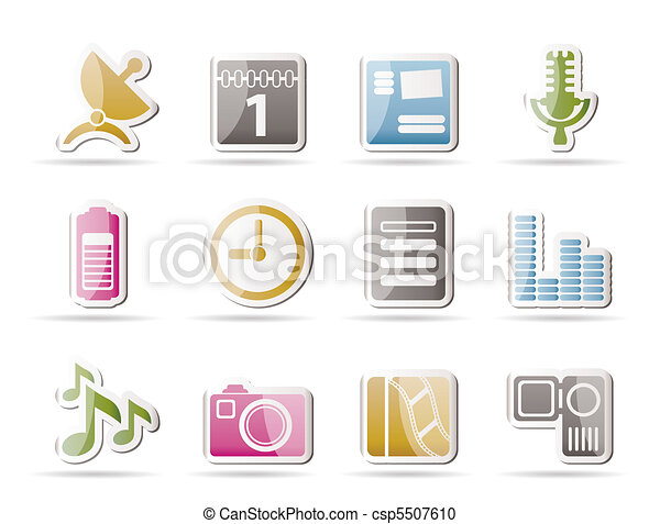 Mobile phone performance icons - csp5507610