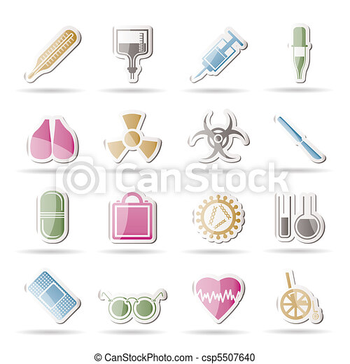 collection of medical themed icons - csp5507640