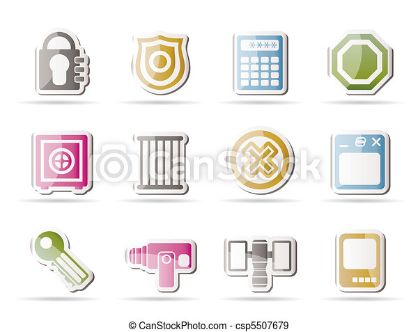 Security and Business icons  - csp5507679
