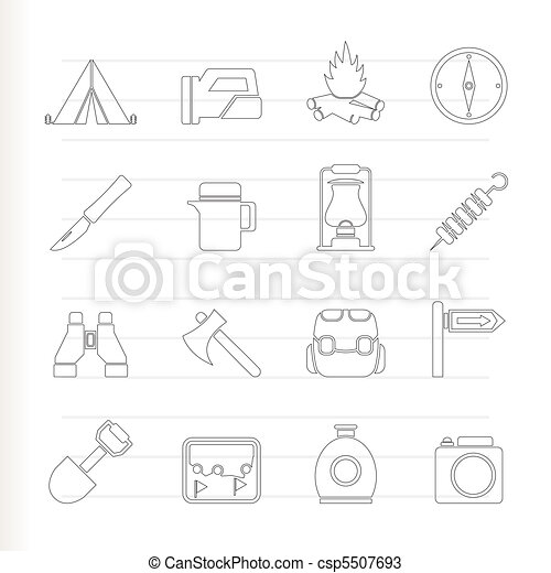 tourism and hiking icons - csp5507693