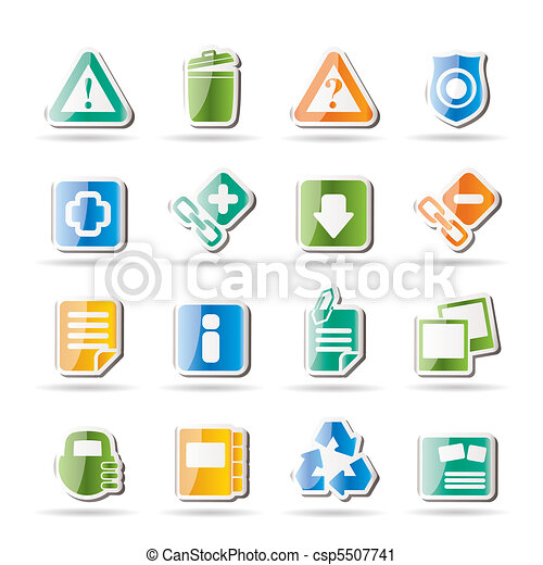 Web site and computer Icons - csp5507741