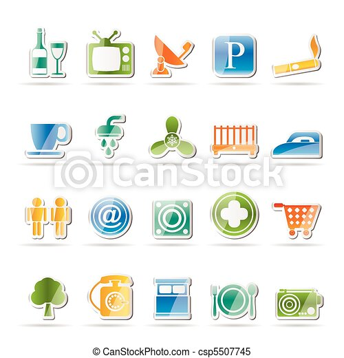 Hotel and Motel objects icons - csp5507745
