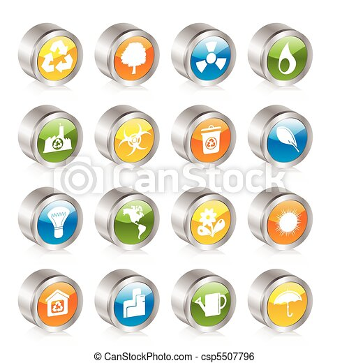 Simple Ecology and Recycling icons  - csp5507796