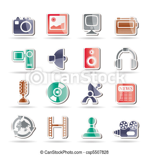 Media and household equipment icons - csp5507828