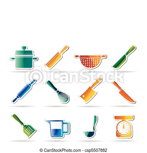 Cooking equipment and tools icons  - csp5507882