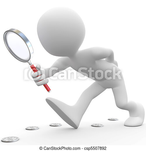 Man with magnifying glass - csp5507892