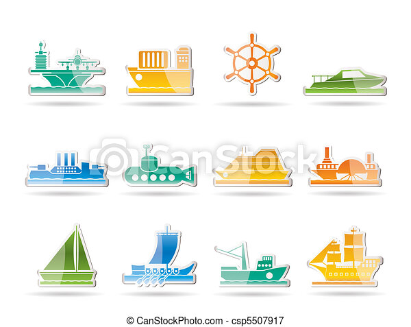 different types of boat and ship  - csp5507917