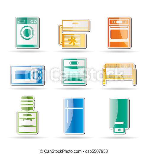 Home electronics and equipment icon - csp5507953