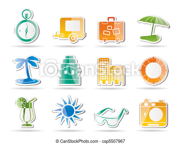 Travel, Holiday and Trip Icons - csp5507967