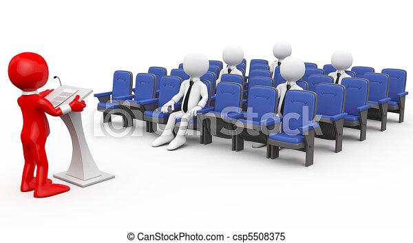 3D human lecturing - csp5508375