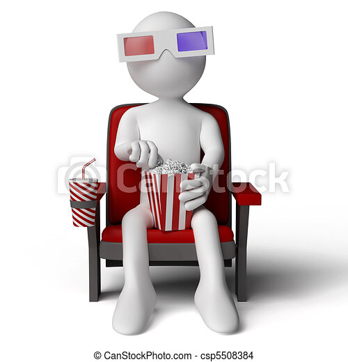3D human sitting on a armchair - csp5508384