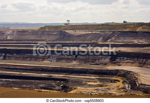 Open-pit lignite mining in Germany - csp5508903