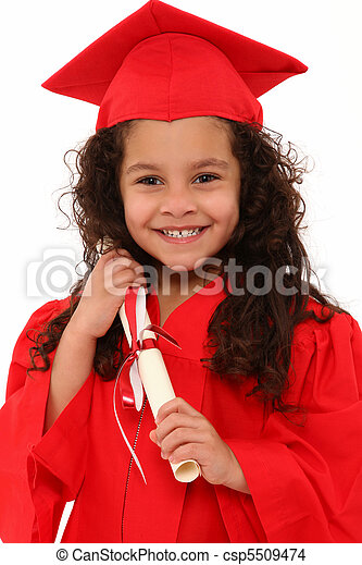 Proud Preschool Girl Graduate Child - csp5509474