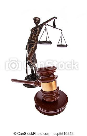 Gavel. Auction hammer in court. - csp5510248