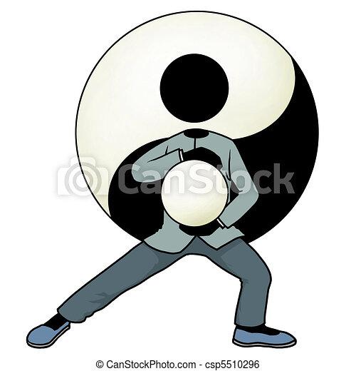Tai chi yin and yang - csp5510296