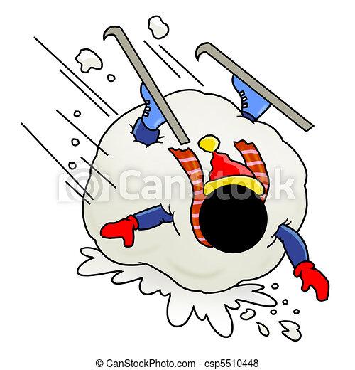 stock illustration von gesteckt riesig schneeball