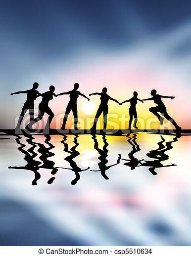 Team spirit - leadership - csp5510634