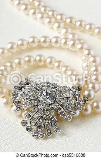 Antique Diamond and Pearl Necklace - csp5510688
