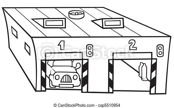 Garage Clipart Black And White Garage Black And White