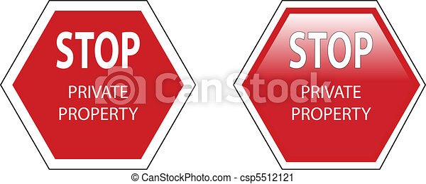 stop private property sign - csp5512121