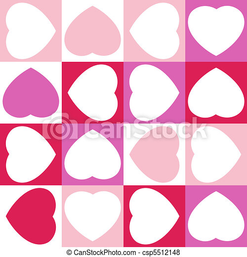 Background with sixteen hearts. EPS 8 - csp5512148