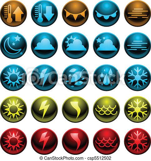 shiny weather icons - csp5512502