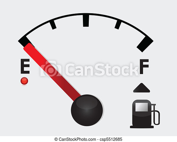 empty Gas Tank Illustration - csp5512685
