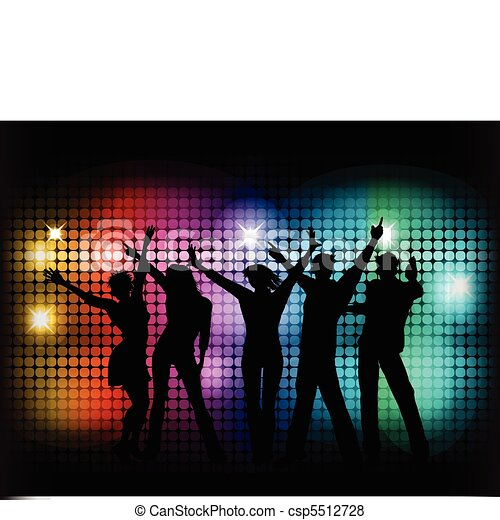 Party People Silhouette Vector Free Vector Party People