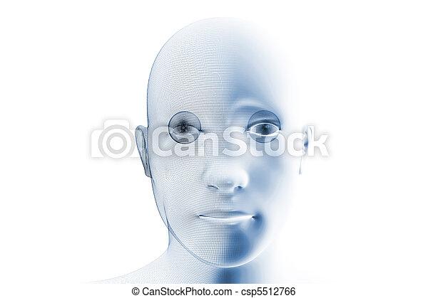 Humanoid robotic face - csp5512766