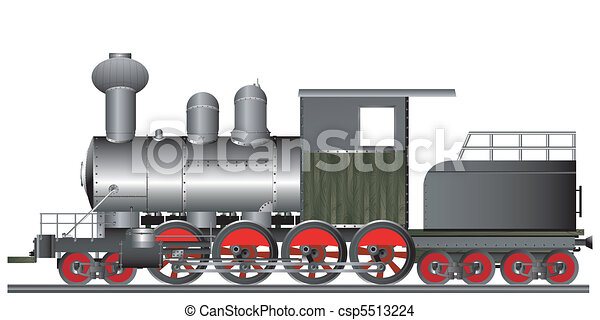 Old style locomotive - csp5513224
