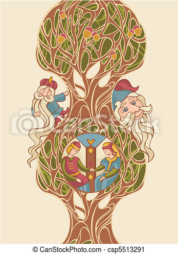 fairytale vector illustration - csp5513291