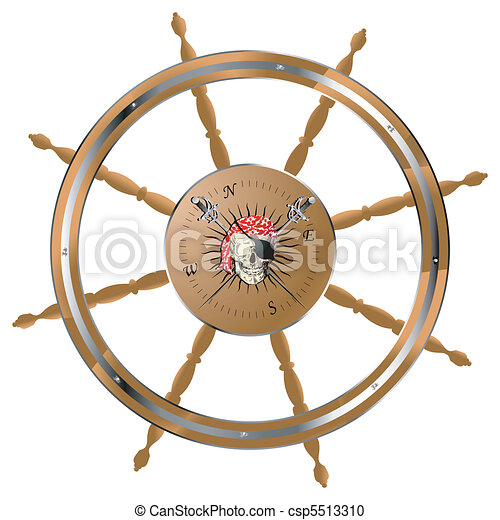Pirate steering wheel - csp5513310