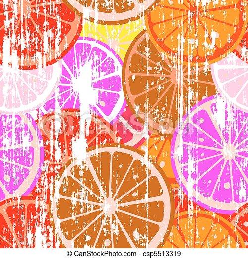 Grunge lemons - csp5513319
